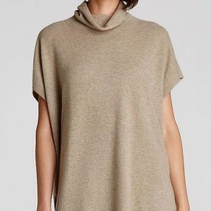 Eileen Fisher Cashmere Camel Turtleneck Poncho M